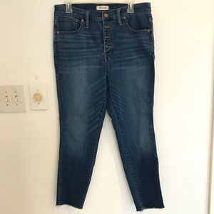 Madewell women's jeans high rise skinny crop 32 W
